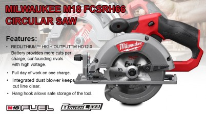 Toptopdeal Milwaukee M18 Fcsrh66 M18 Fuel™ Rear Handle Circular Saw For Wood