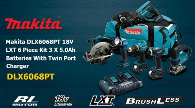 Toptopdeal Makita DLX6068PT 18V LXT 6 Piece Kit 3 X 5.0Ah Batteries With Twin Port Charger