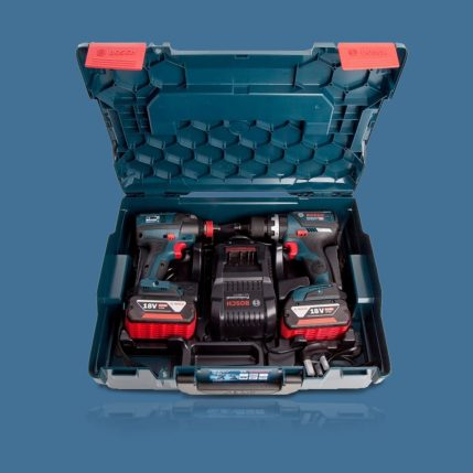 Toptopdeal Bosch 18V Li-ion Bluetooth Combi Drill & Impact Driver Twin Kit with 2 x 5.0Ah Batteries & Charger in Case 3