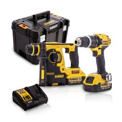 Toptopdeal-Dewalt DCK206M2T 18V Twin Kit With 2 X 4 0Ah Batteries & Charger In Tstak Kit Box