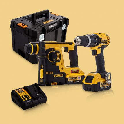 Toptopdeal-Dewalt DCK206M2T 18V Twin Kit With 2 X 4 Ah Batteries & Charger In Tstak Kitbox