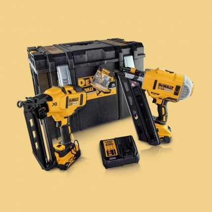 Toptopdeal-Dewalt DCK264P2 18V Brushless Nailer Twin Pack With 2 X 5 Ah Batteries & Charger In Case