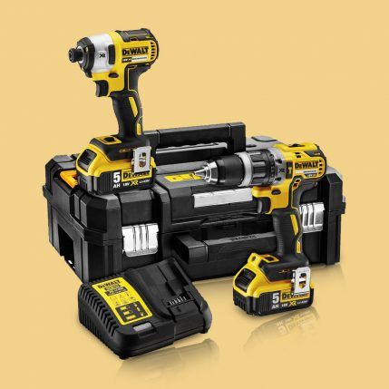 Toptopdeal-Dewalt DCK266P2T 18V Brushless Twin Kit With 2 X 5 Ah Batteries & Charger In TSTAK Box