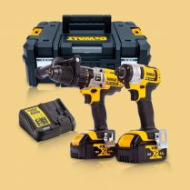 Toptopdeal-Dewalt DCK290M2T 18V Twin Kit With 2 X 4 Ah Batteries & Charger In TSAK Carry Case