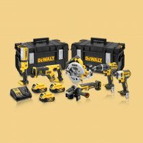 Toptopdeal-Dewalt DCK623P3 18V Brushless 6 Piece Kit 3 X 5 Ah Batteries With Charger & 2 X Kit Boxes
