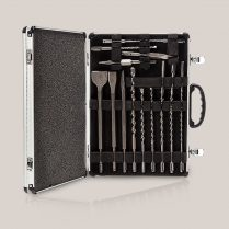 Toptopdeal Excel 17 Piece SDS Plus Drill & Chisel Bit Set In Aluminium Case