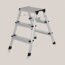 Toptopdeal-Excel Heavy Duty Lightweight Folding Aluminum Platform 3 Step HopUp Stool Ladder