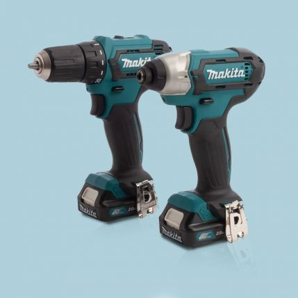 Toptopdeal Makita CLX224AJ 12V Max CXT 2 Piece Cordless Kit With 2 X 2.0Ah Batteries & Charger In Case 3