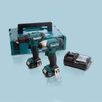 Toptopdeal--Makita-CLX224AJ-12V-Max-CXT-2-Piece-Cordless-Kit-With-2-X-2.0Ah-Batteries-&-Charger-In-Case