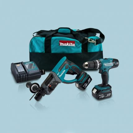 Toptopdeal-Makita-DLX2025M-18V-Combi-Drill-+-SDS-Drill-Twin-Pack-With-2-X-4-0Ah-Batteries-&-Charger-In-Bag