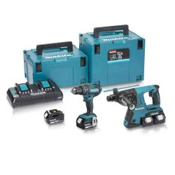 Toptopdeal-Makita-DLX2137PMJ-18v-Cordless-Twin-Kit-DHP482-Combi-&-DHR263-Sds+-Hammer-Drill-Inc-4x-4-0ah-Batteries
