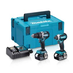 Toptopdeal-Makita DLX2180TJ 18V LXT 2 Piece Brushless Kit 2 X 5 0Ah Batteries & Charger In Case