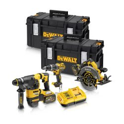 Toptopdeal-co-uk Dewalt DCK357T2 54V Brushless Triple Kit With 2 X 6 0Ah Batteries & Charger In 2 X Toughsystem Boxes