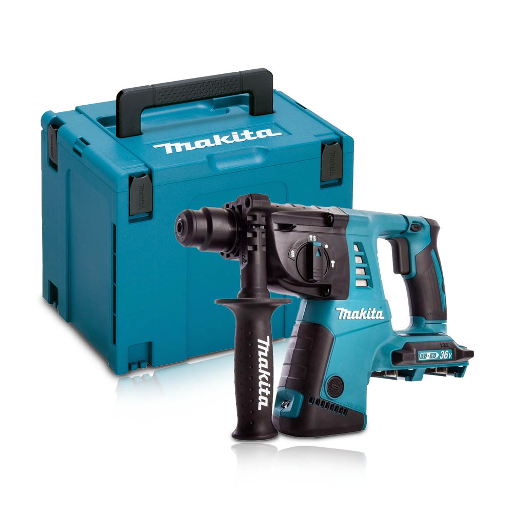 Toptopdeal-co-uk MAKITA DHR263ZJ TWIN 18V SDS+ ROTARY HAMMER BODY ONLY