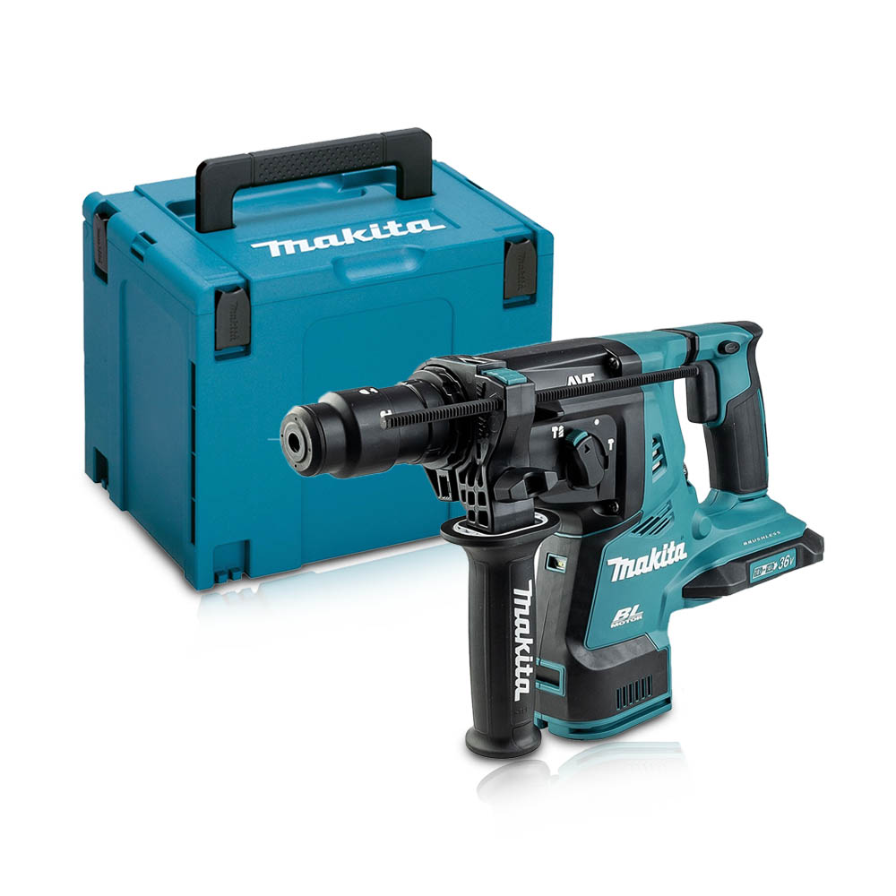 Toptopdeal-co-uk MAKITA DHR281ZJ TWIN 18V LXT SDS+ ROTARY HAMMER WITH QCC BODY ONLY IN MAKPAC CASE