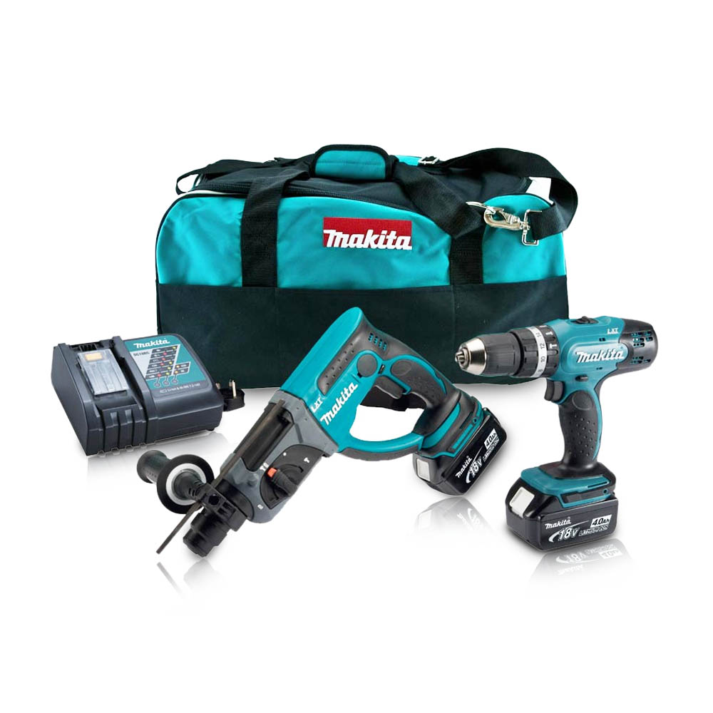Toptopdeal-co-uk Makita DLX2025M 18 V Li-Ion LXT Combo Kit Complete With 2 X 4 0 Ah Li-Ion Batteries And Charger In A Heavy Duty Carry Bag