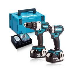 Toptopdeal-co-uk Makita DLX2176TJ 18v Brushless Impact Driver Combi Drill Twin Kit Inc 2 X 5 0ah Batteries & Charger In Case