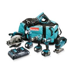 Toptopdeal-co-uk Makita DLX6068PT 18V LXT 6 Piece Kit 3 X 5 0Ah Batteries With Twin Port Charger