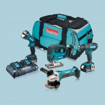 toptopdeal Makita DLX4051PM1 18V Cordless Li Ion 4 Piece Kit 3 X 4 0Ah Batteries
