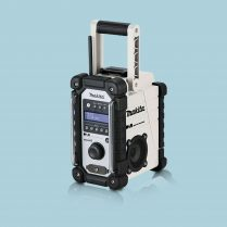 toptopdeal Makita DMR109W 10 8 18V LXT CXT Li Ion DAB Job Site Radio White Body Only