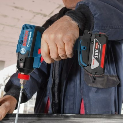 Toptopdeal Bosch 18v li ion bluetooth combi drill impact driver twin kit with 2 x 5 0ah batteries charger in case 4