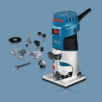 Toptopdeal Bosch GKF 600 Compact Fixed Base Palm Router & Bases 240V 060160A171