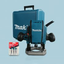 Toptopdeal Makita RP0900X Heavy Duty 1 4 Or 3 8 Plunge Router 110V In Case