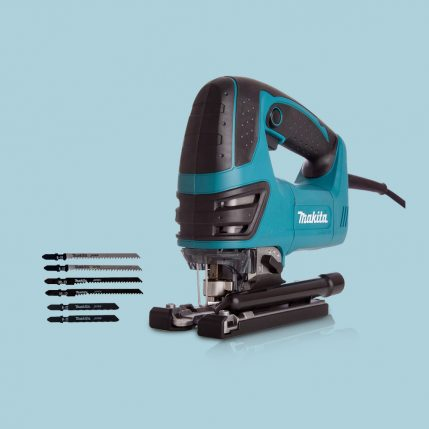 toptopdeal Makita 4350FCT Orbital Action Jigsaw 110V With 5 Jigsaw Blades