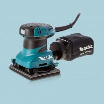 toptopdeal Makita BO4555 240V Hook & Loop Clamp Finishing Palm Sander With Dust Bag