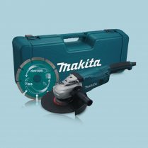 Toptopdeal Makita GA9020KD 110V 9″/230mm Angle Grinder With Case & Diamond Blade