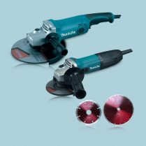 toptopdeal Makita GA9050 9″-4-5″ GA4530R Angle Grinder 110V With 2 Diamond Wheel