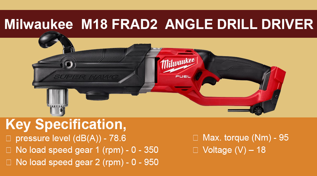 Milwaukee M18 FRAD2 ANGLE DRILL DRIVER Toptopdeal topdeal