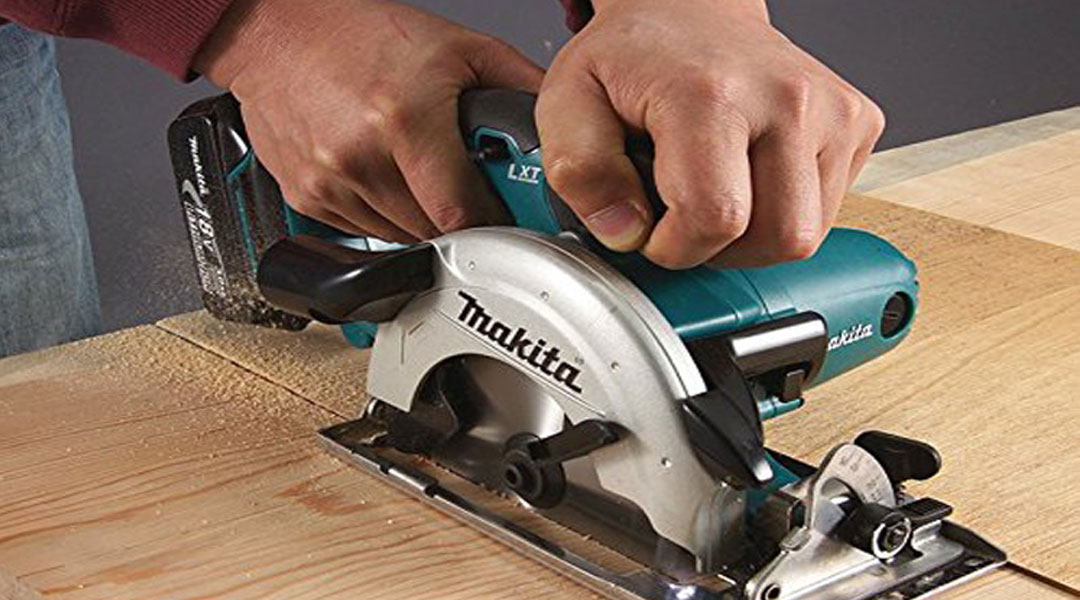 When using a circular saw, what should be done?