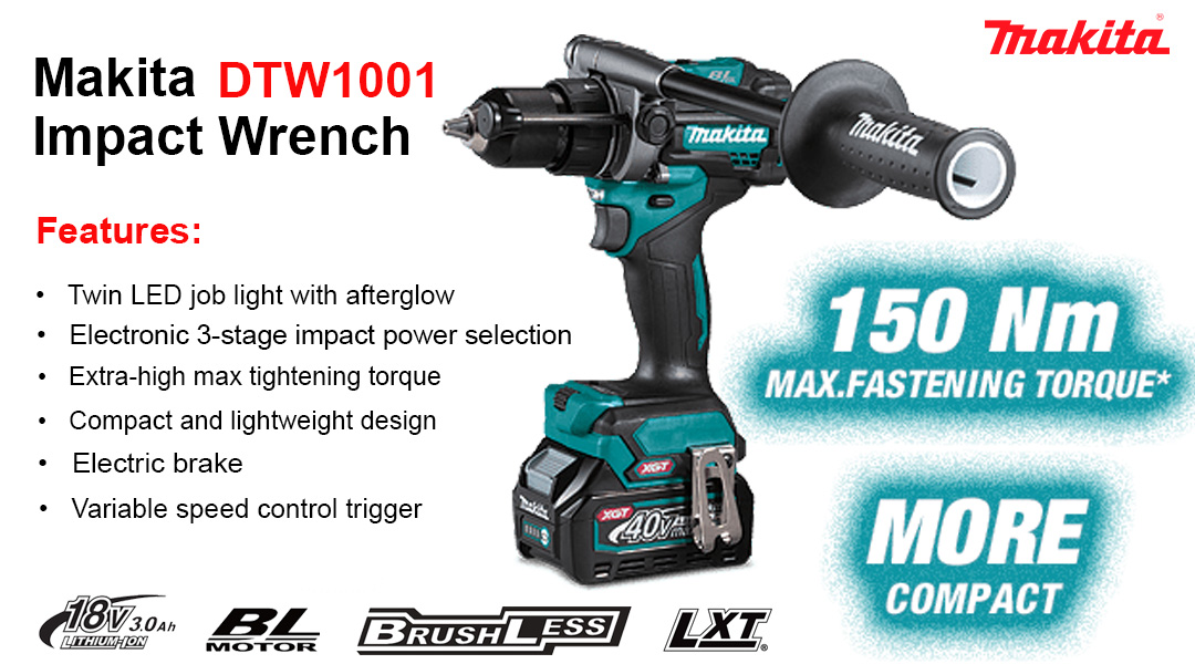 Makita DTW1001 XGT® 40V Max Brushless 3/4″ Impact Wrench Toptopdeal topdeal