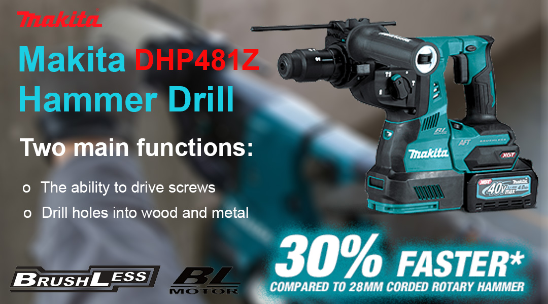 Makita DHP481Z 18V 185mm Xgt® 40v Max Brushless Hammer Drill Body Only Toptopdeal topdeal