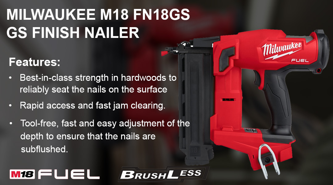 MILWAUKEE M18 FN18GS M18 FUEL™ 18 GS FINISH NAILER Toptopdeal topdeal