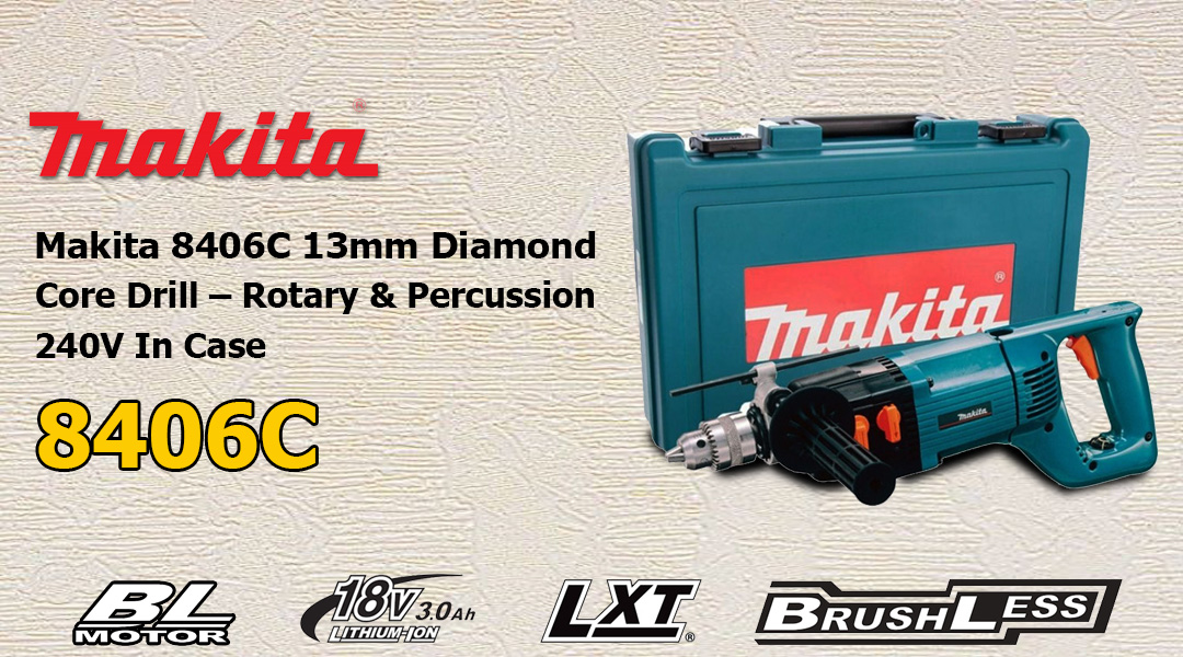 Toptopdeal Makita 8406C 13mm Diamond Core Drill – Rotary & Percussion 240V
