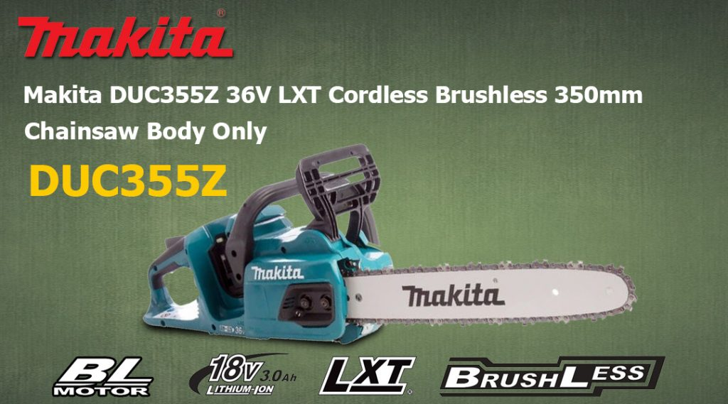 Toptopdeal Makita DUC355Z 36V LXT Cordless Brushless 350mm Chainsaw