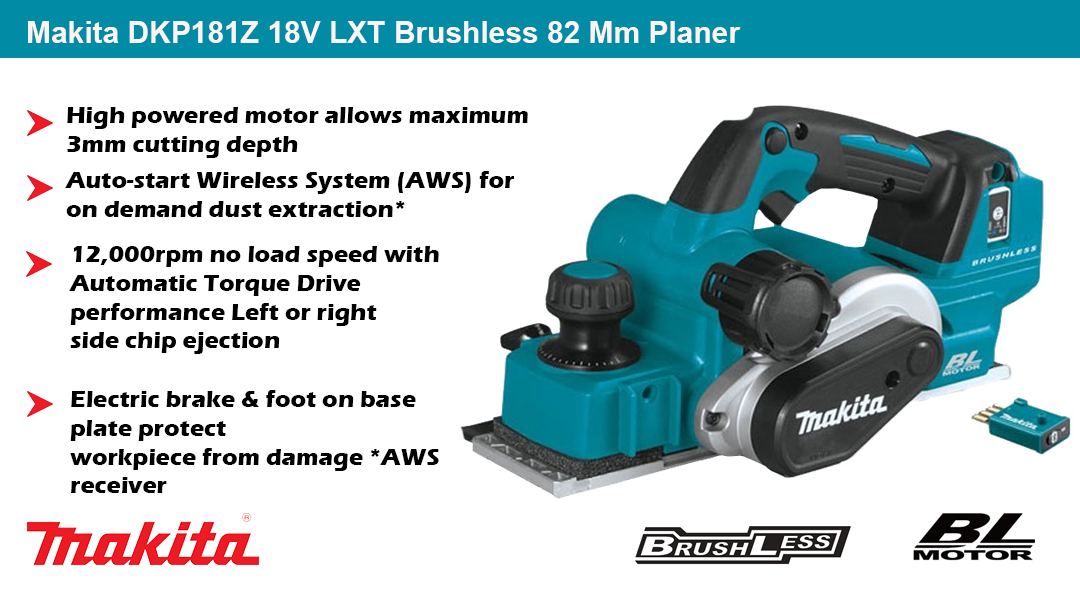 Makita DKP181Z 18V LXT Brushless 82 Mm Planer Toptopdeal topdeal
