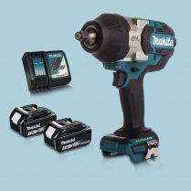 Makita DTW1002Z 18V 1/2″ BL Impact Wrench Drive & 2 x 3.Ah Battery Charger