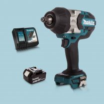 Makita DTW1002Z 18V 1/2″ BL Impact Wrench Drive & 1 x 5.Ah Battery Charger