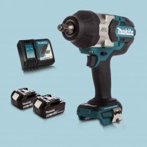 Makita DTW1002Z 18V 1/2″ BL Impact Wrench Drive & 2 x 5.Ah Battery Charger