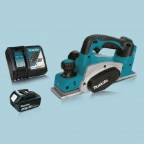 Makita DKP180Z 18V LXT Li Cordless 82mm Planer & 1 x 3.0Ah Battery Charger