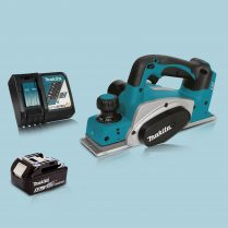 Makita DKP180Z 18V LXT Li Cordless 82mm Planer & 1 x 5.0Ah Battery Charger
