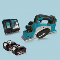 Makita DKP180Z 18V LXT Li Cordless 82mm Planer & 2 x 5.0Ah Battery Charger