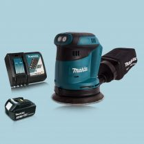 Makita DBO180Z 18V Li-Ion Random Orbit Sander & 1 x 3.0Ah Battery Charger