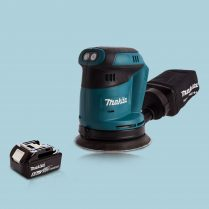 Makita DBO180Z 18V Li-Ion 3-Speed Random Orbit Sander & 1 x 5.0Ah Battery