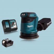 Makita DBO180Z 18V Li-Ion Random Orbit Sander & 1 x 5.0Ah Battery Charger