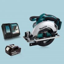 Makita DSS611Z 18V 165mm Cordless Circular Saw & 1 x 5.0Ah Battery Charger