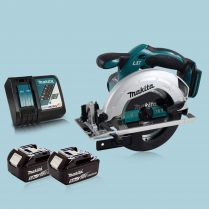 Makita DSS611Z 18V 165mm Cordless Circular Saw & 2 x 5.0Ah Battery Charger